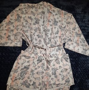 NWT Boho robe and matching sleep shorts
